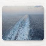 Vista para o mar do acordar da parte traseira de u mouse pads