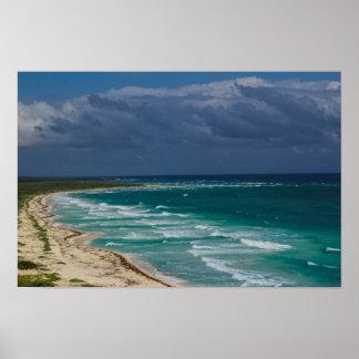 """""""Vista para o mar fora poster 16x12 de Cozumel"""""""