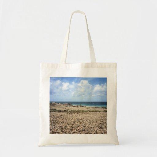 Vista para o mar rochosa de Aruba Bolsas Para Compras