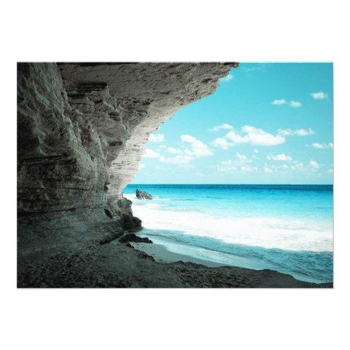 Vista para o mar tropical 2 convite