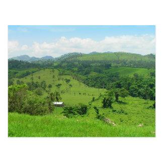 Vista rural, cartão da República Dominicana Cartão Postal
