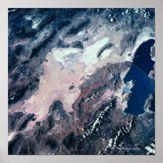 Vista satélite da terra poster