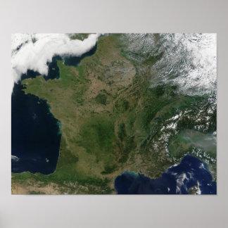 Vista satélite de France Posteres