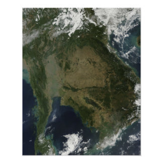 Vista satélite de Indochina Pôster