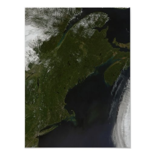 Vista satélite de Nova Inglaterra Posters