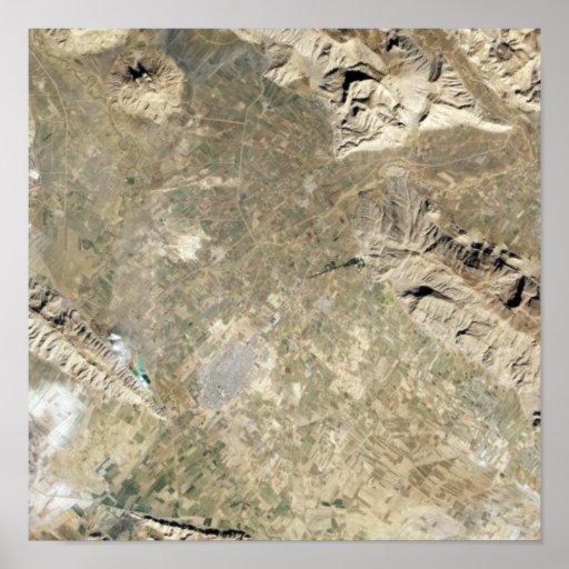 Vista satélite de Persepolis Poster