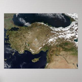 Vista satélite de Turquia Posters