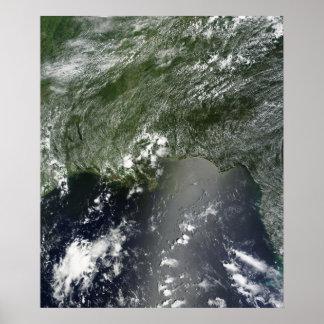Vista satélite do Golfo do México 2 Impressão