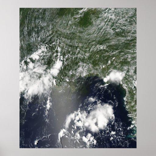 Vista satélite do Golfo do México Posteres