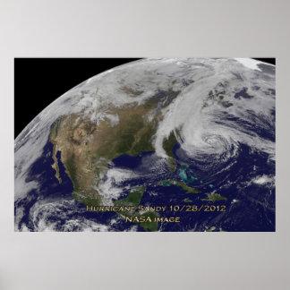 Vista satélite do poster de Sandy 60x40 do furacão Pôster