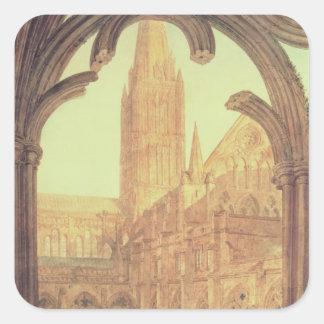 Vista sul da catedral de Salisbúria do Cloiste Adesivos Quadrados