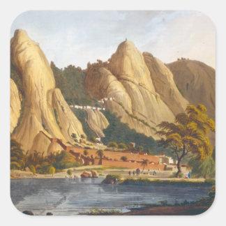 Vista sul de Sewandroog, ilustração 'de Twelv Adesivo Quadrado
