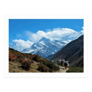 Vistas de Nepal na maneira a MONTE EVEREST Cartão Postal