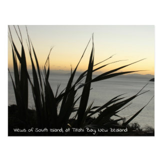 Vistas do cartão da ilha sul