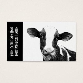 Vitela de Holstein ou vitela nova da leiteria Cartão De Visitas