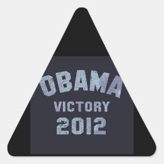 Vitória 2012 de Obama Adesivo Triangular