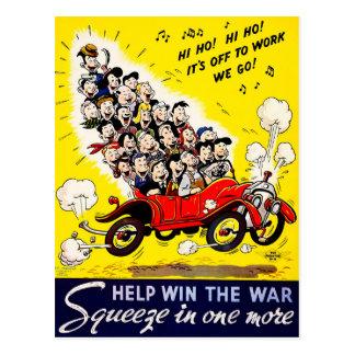 Vitória da ajuda a guerra - Carpool Cartão Postal