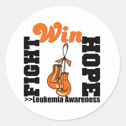 Vitória da esperança da luta - leucemia adesivo redondo