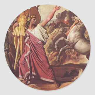 Vitória de Jean Auguste Ingres- Romulus sobre Adesivo Em Formato Redondo