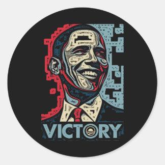 Vitória de Obama Adesivos Redondos