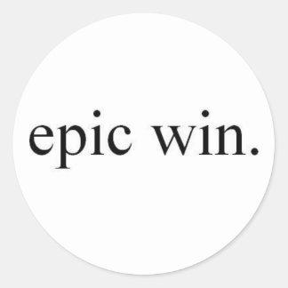 vitória épico adesivo em formato redondo