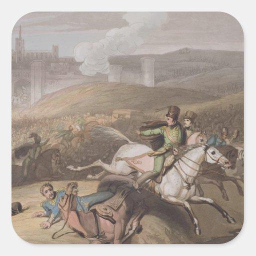 Vitoria, o 21 de junho de 1813, 'das vitórias do adesivo em forma quadrada