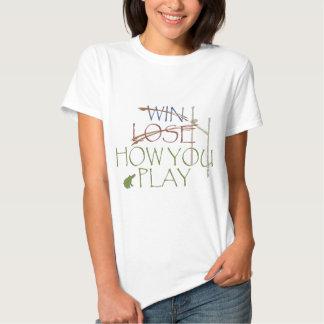Vitória/perder/como você joga camisetas