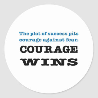 Vitórias da coragem adesivos em formato redondos