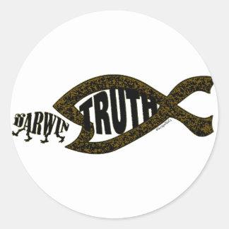 Vitórias da verdade adesivos redondos