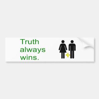 Vitórias da verdade! Comemore o casamento Adesivo Para Carro