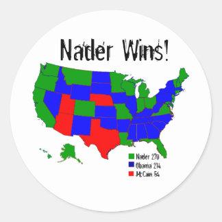 Vitórias de Nader! Adesivo