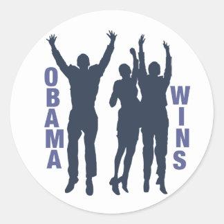 Vitórias de Obama Adesivo
