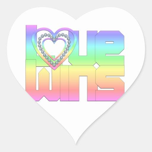Vitórias do amor adesivos de corações