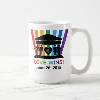 Vitórias do amor, nós caneca R1 dura judaica