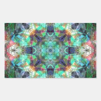Vitral abstrato adesivo retangular
