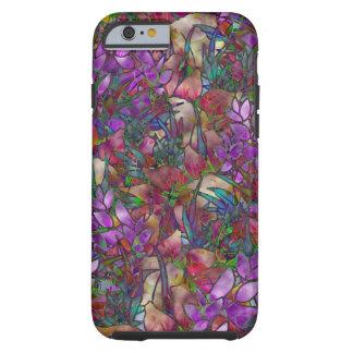 vitral abstrato floral de Shell do caso do iPhone Capa Tough Para iPhone 6
