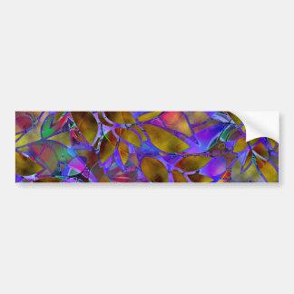 Vitral abstrato floral do autocolante no vidro adesivo para carro