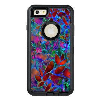 vitral abstrato floral do caso positivo do iPhone