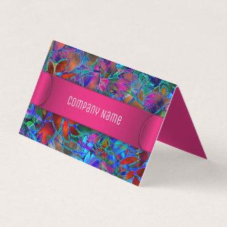 Vitral abstrato floral dobrado do cartão de visita