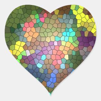 Vitral Adesivo De Coração