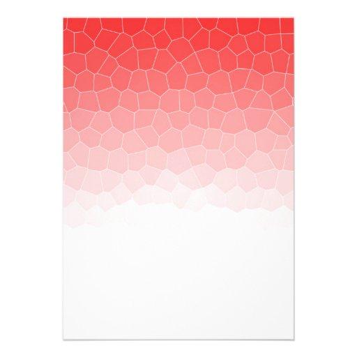 Vitral branco vermelho convite personalizados
