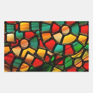 vitral colorido adesivos retangular
