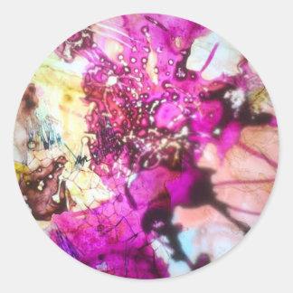 Vitral cor-de-rosa adesivo
