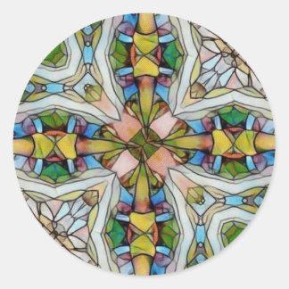 Vitral cruciforme bonito inspirado adesivo