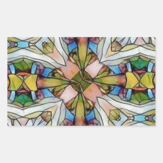Vitral cruciforme bonito inspirado adesivo retangular