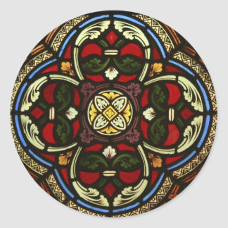 Vitral da igreja adesivos redondos