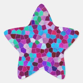 Vitral da textura de mosaico da etiqueta adesivo estrela