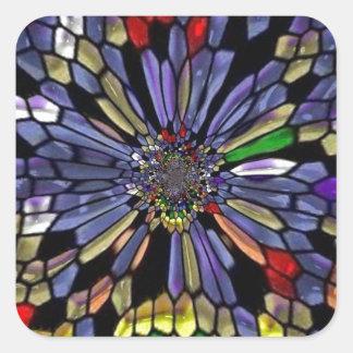 Vitral do arco-íris adesivo quadrado