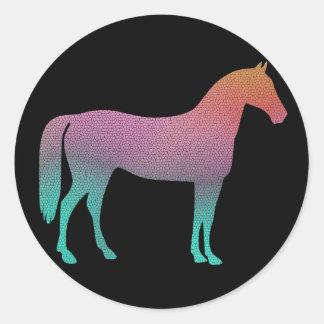 Vitral do cavalo adesivo