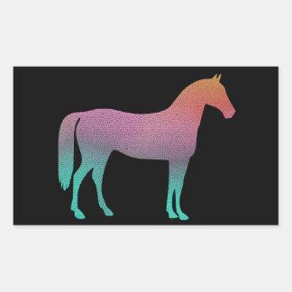 Vitral do cavalo adesivo retangular